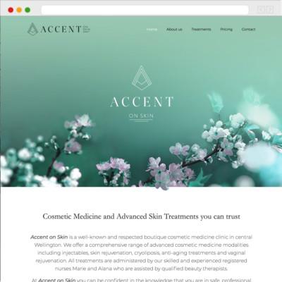 Accent on Skin Website