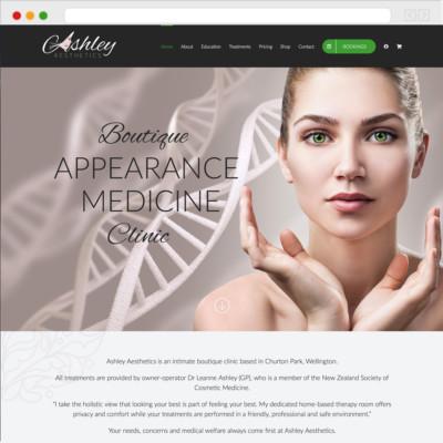 Ashley Aesthetics Website
