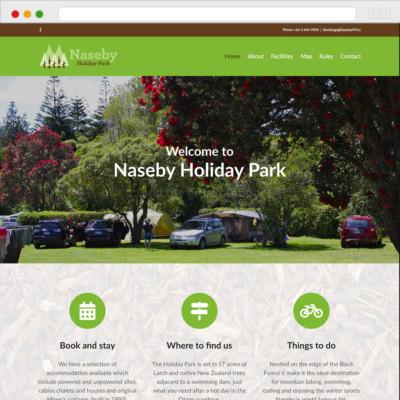 Naseby Holiday Park Webite